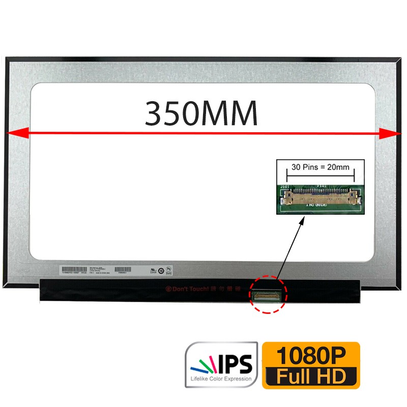 ECRÃ LCD - HP PAVILION 15-CK, 15-CK000, 15-CK001NS, 15-CK004NS, 15-CK005NS, 15-CK007NS, 15-CK008NS, 15-CK085NZ SERIES - 1