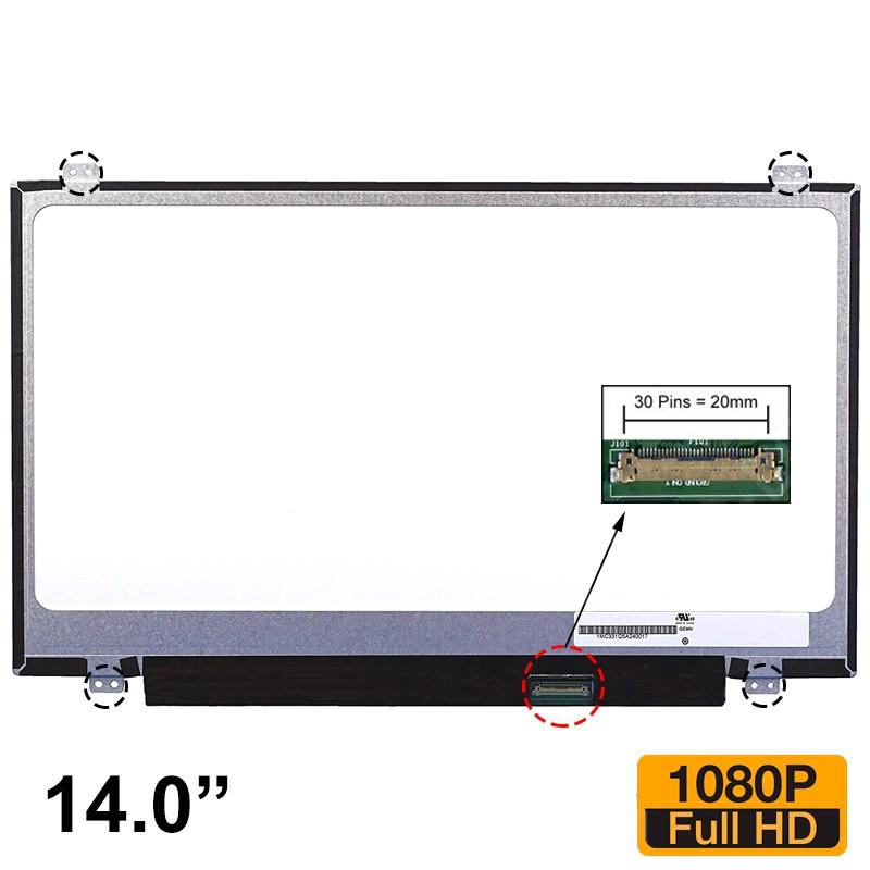 """ECRÃ LCD 14.0"""" - B140HTB01.0, B140HTN01.0, B140HTN01.1, HB140FH1-301, HB140FH1-401, NT140FHM-N41, N140HGE-EA1, N140HGE-EAA - 1"""