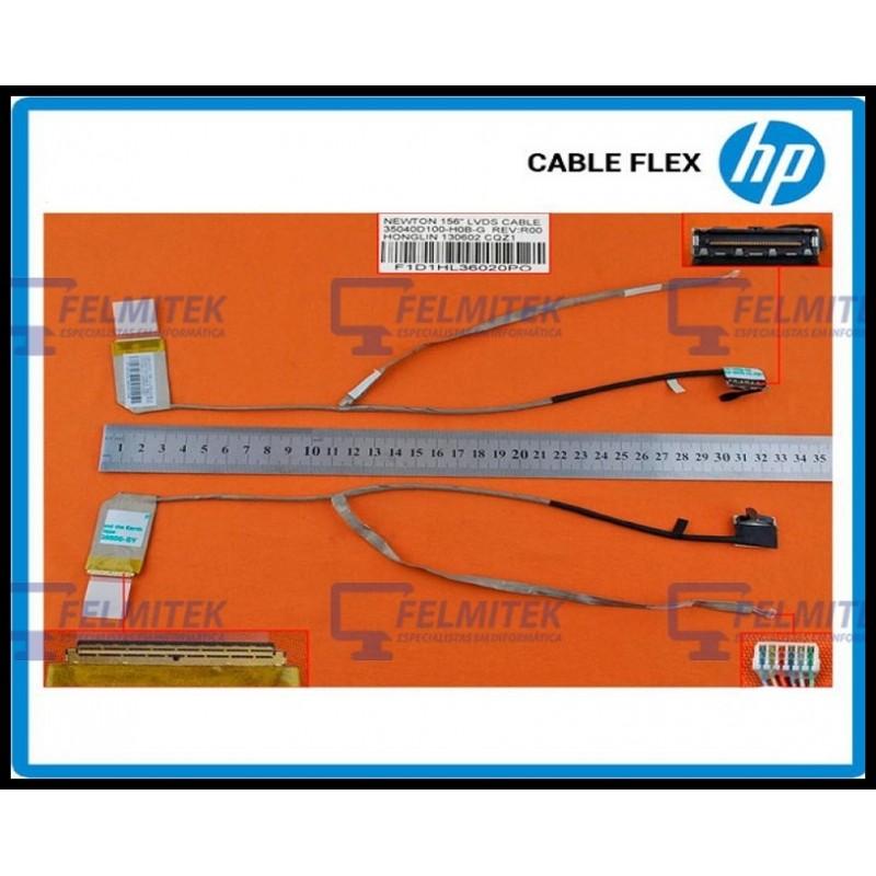 CABO FLAT CABLE ECRÃ LCD - HP COMPAQ PRESARIO CQ58-A00, CQ58-A10NR, CQ58-B10NR, CQ58-C10NR, CQ58-D00, CQ58-D11SG SERIES - 1