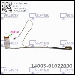 CABO FLAT CABLE ECRÃ LCD - ASUS X451, X451C, X451CA, X451E, X451M, X451MA, X451MAV SERIES - 1