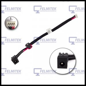 CONECTOR CARGA | DC POWER JACK TOSHIBA SATELLITE A205, A205-S4537, A205-S4557, A205-S4567, A205-S4587, A205-S4597 SERIES - 1