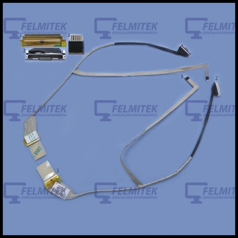 CABO FLAT CABLE ECRÃ LCD - HP PAVILION G6-1200, G6-1200ER, G6-1200SA, G6-1200TX, G6-1201AX, G6-1201EQ, G6-1201EV SEREIS - 1