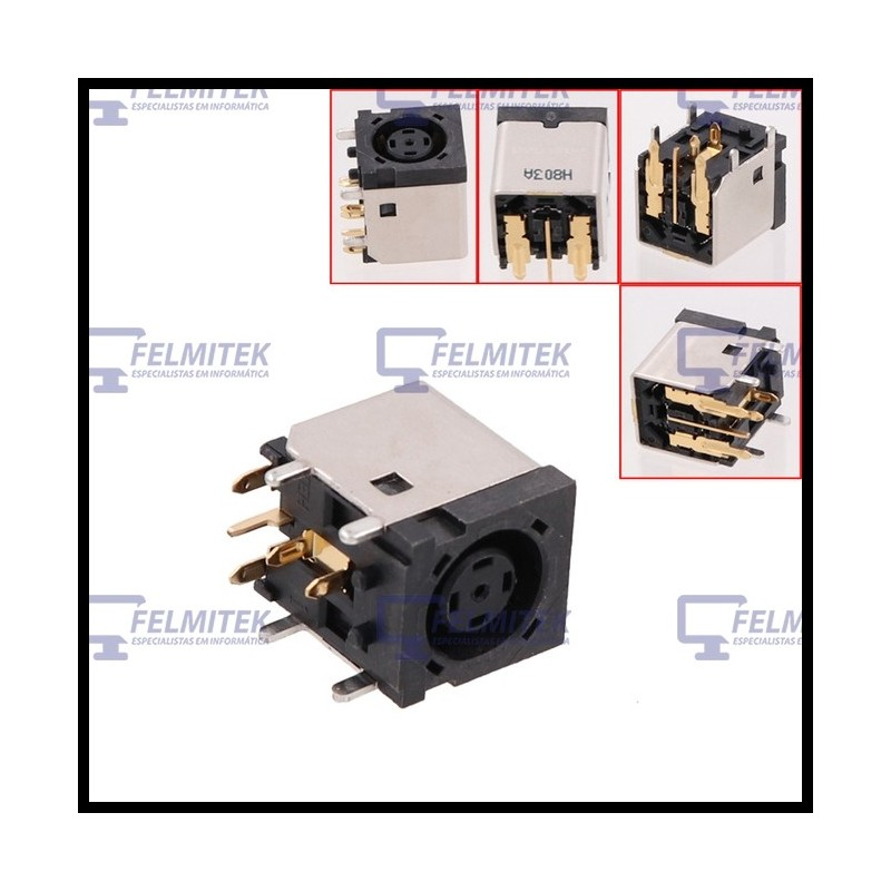 CONECTOR CARGA   DC POWER JACK DELL LATITUDE ATG D620, ATG D630, XFR D630 SERIES - 1