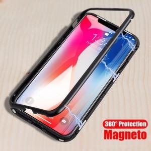 CAPA 360 MAGNÉTICA IPHONE XR TRANPARENTE & PRETO - 1