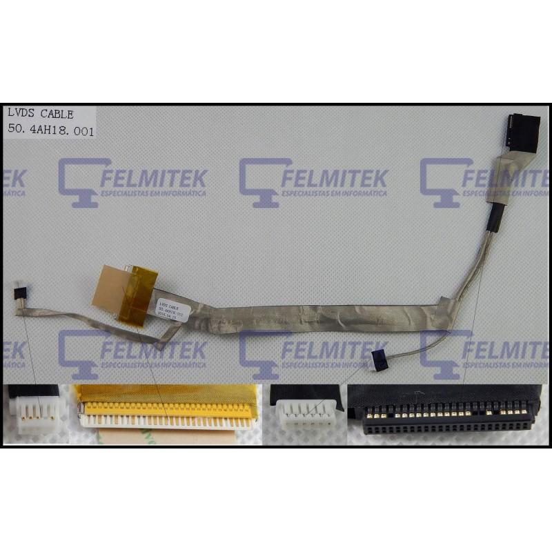 CABO FLAT CABLE ECRÃ LCD - COMPAQ PRESARIO CQ60, CQ60-100, CQ60-200, CQ60-300, CQ60-400, CQ60-500, CQ60-600, CQ60Z-200CTO SERIES