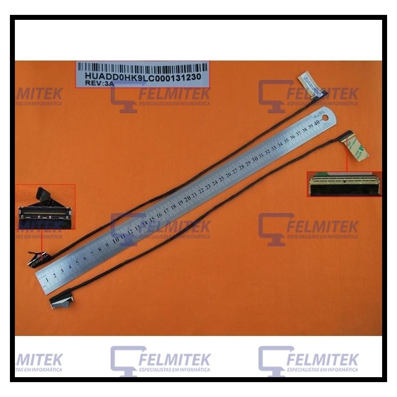 CABO FLAT CABLE ECRÃ LCD - SONY VAIO SVF153, SVF153A1QT, SVF1531, SVF15314SCW, SVF1532, SVF15322SG, SVF1541, SVF1542 SERIES - 1