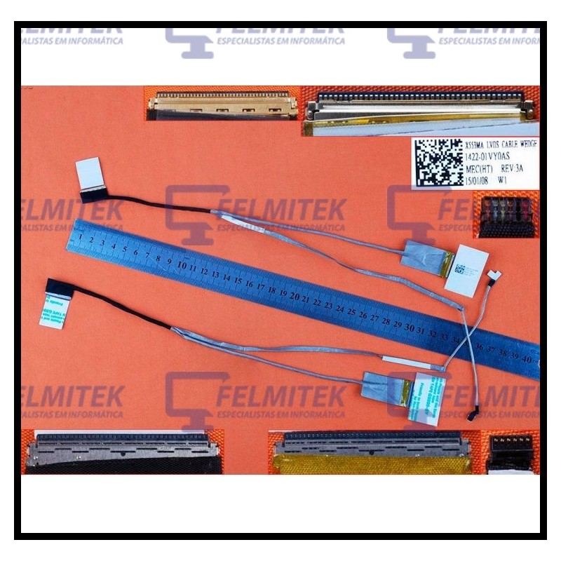CABO FLAT CABLE ECRÃ LCD - ASUS X553, X553M, X553MA, F553M - 1