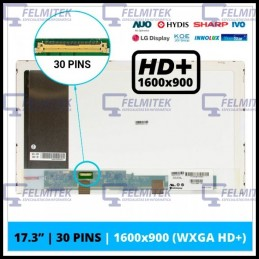 "ECRÃ LCD 17.3"" LED 1600X900 - B173RT01.3, B173RTN01, N173FGE-E11, N173FGE-E13, N173FGE-E21, N173FGE-E23, N173HGE-E11 - 1"