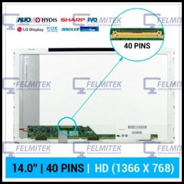 ECRÃ LCD - LENOVO ESSENTIAL/IDEAPAD G400S, G405S, G410S, G450, G460S, G470, G470 4328, G470S, G475S, G480, G480S, G485S SERIES -