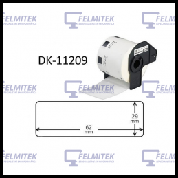 DK11209 | DK-11209 - ETIQUETA COMPATÍVEL BROTHER (29MMx62MM) - 1