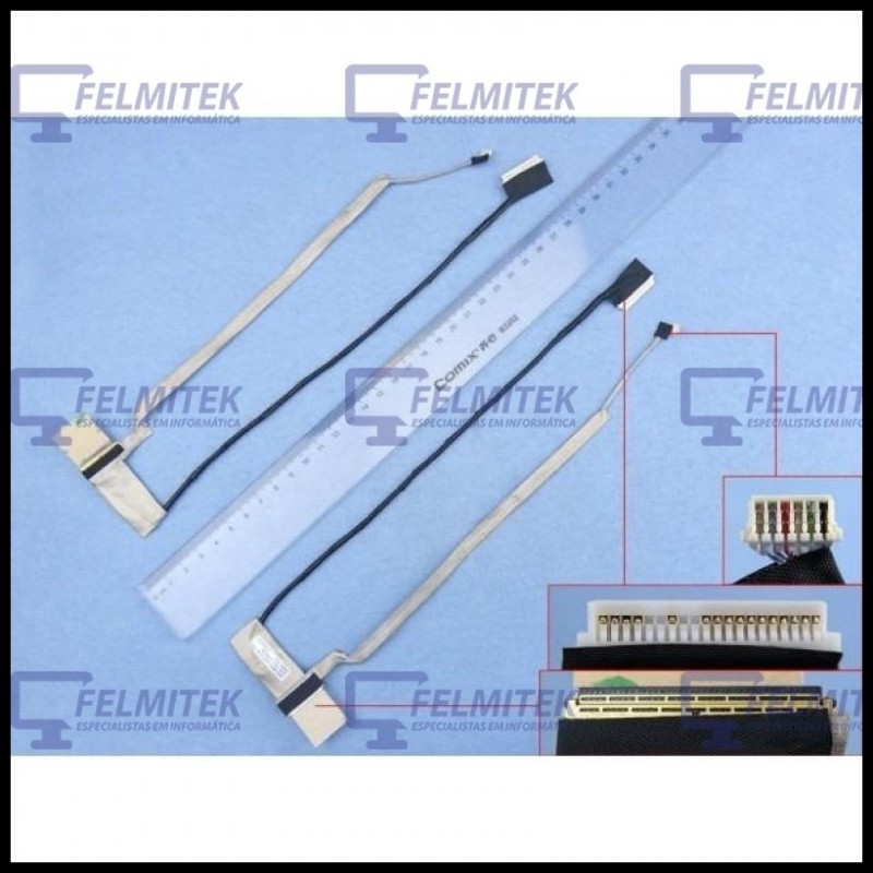 CABO FLAT CABLE ECRÃ LCD - TOSHIBA SATELLITE C850, C850D, C855, C855D, C870, C870D, L850, L850D, L855, L855D, PRO C850, C870 - 1