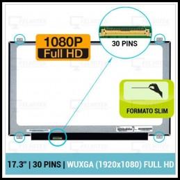 "ECRÃ LCD 17.3"" LED SLIM - B173HAN01.0, B173HAN01.1, NV173FHM-N41, N173HCE-E31, N173HCE-E41, LP173WF4-SPF1, LTN173HL01-001 - 1"