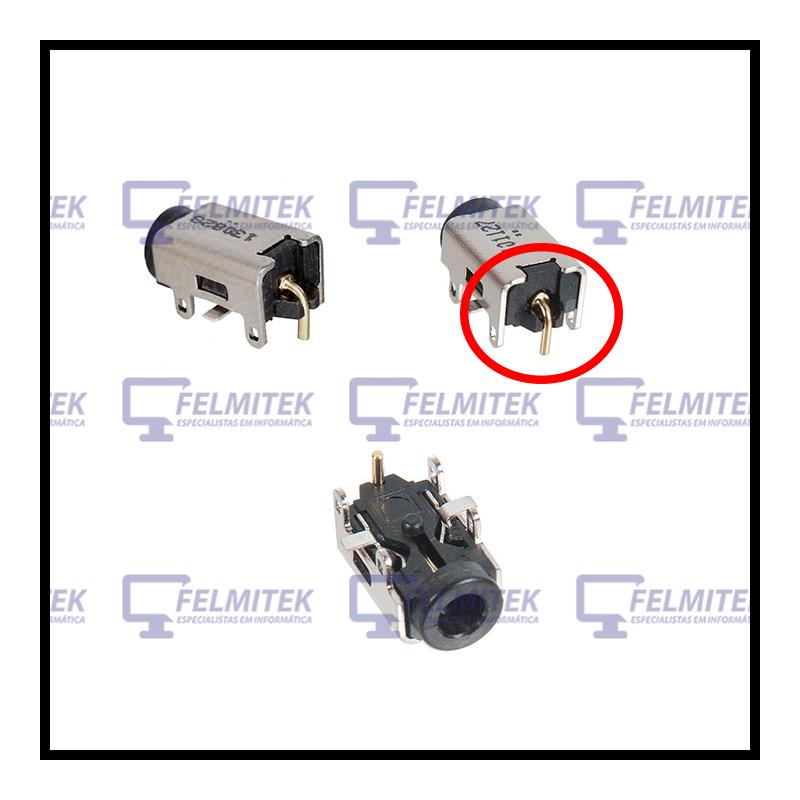 CONECTOR CARGA | DC POWER JACK ASUS EEE PC 1011, 1011HA, 1015, 1015B, 1016, 1016P, 1018, 1018P, 101HA-MU1X, 1025, 1025C SERIES -