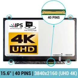 """ECRÃ LCD 15.6"""" LED SLIM 4K - LP156UD1-SPA1, LP156UD1-SPA2, LP156UD1-SPB1, LP156UD1-SPB2, LTN156FL02-D01, LTN156FL02-L01 - 1"""