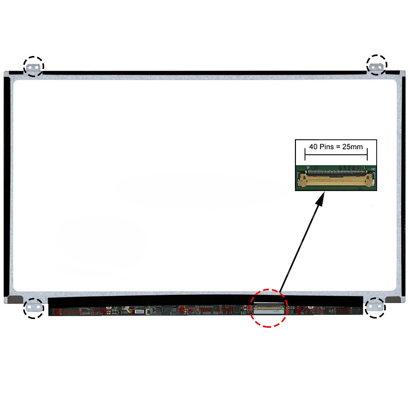 ECRÃ LCD - HP PAVILION 15-B101SP, 15-B102SP, 15-B104SP, 15-B105SP, 15-B109SP, 15-B112SP, 15-B113SP, 15-B116SP, 15-B117SP SERIES