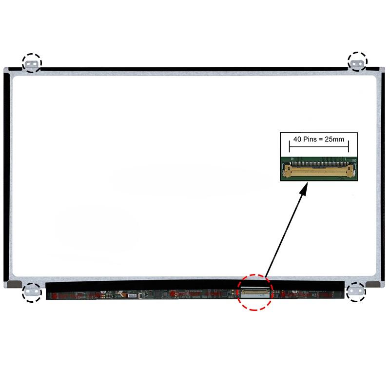ECRÃ LCD - SONY VAIO SVE15, SVE1511J1EW, SVE1513J1EW, SVE151G13M, SVE151G17M, SVE151J11L, SVE151J11M, SVE151J11X SERIES - 1
